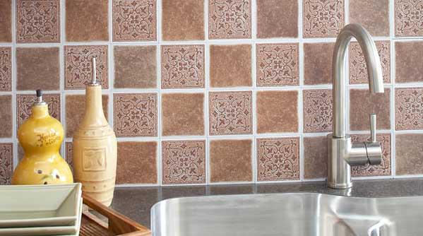 Image of: tile backsplash sticky paper