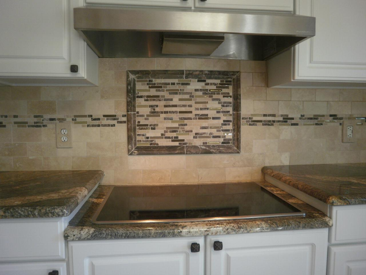 Image of: tile mosaic backsplash