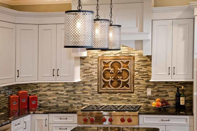 Image of: tin backsplash tile