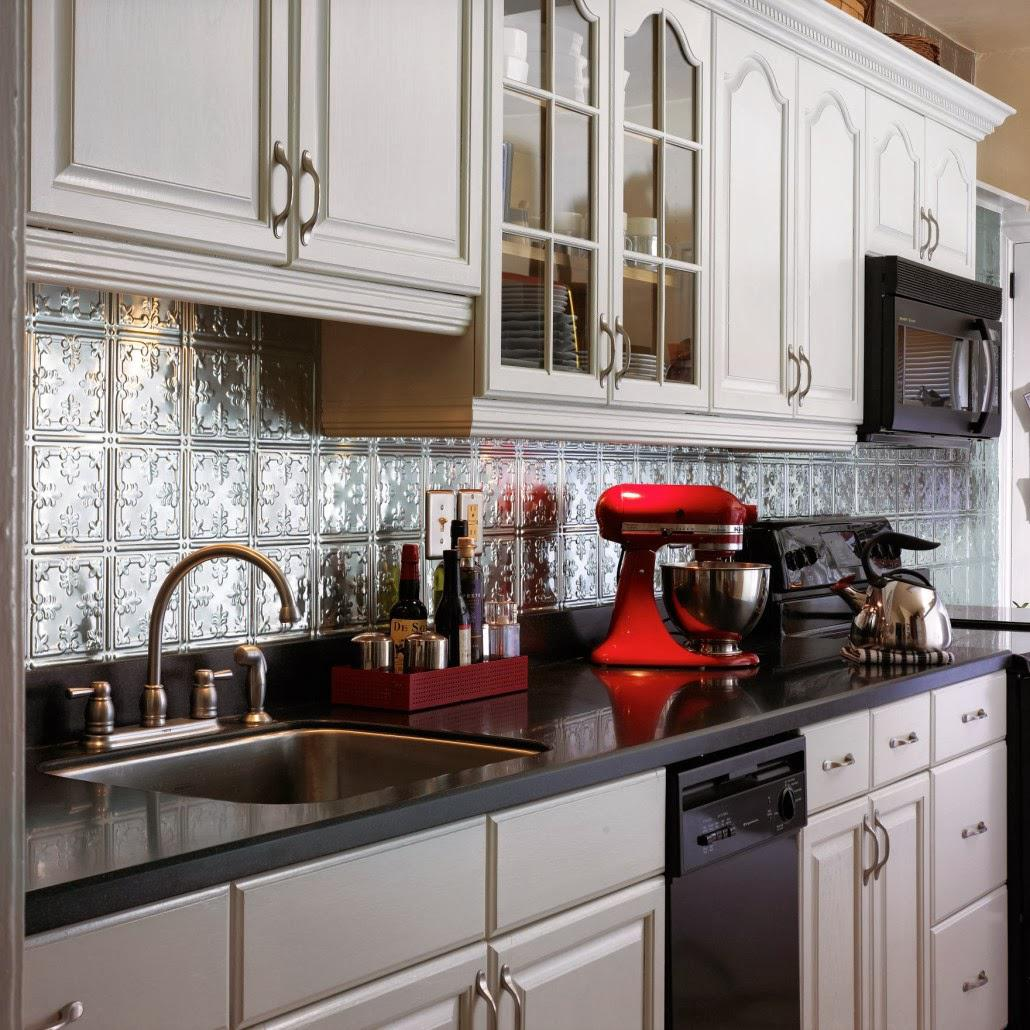 Image of: Tin Tile Backsplash Designs Ideas