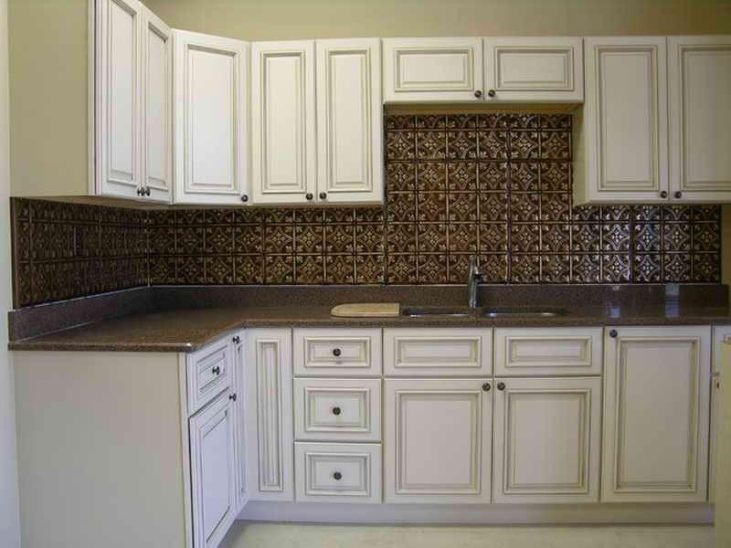 Image of: tin tiles backsplash