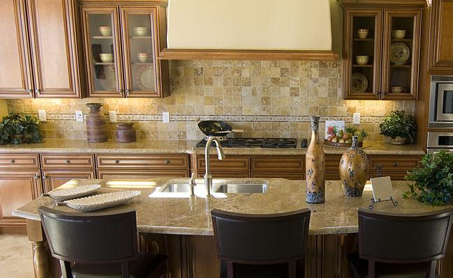 Image of: travertine backsplash care