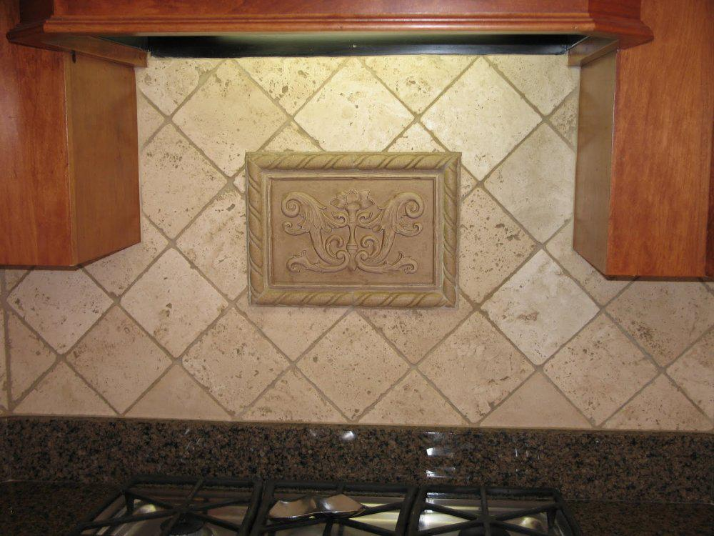 Image of: travertine tile backsplash ideas