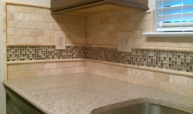 Image of: Tumbled Travertine Backsplash Tile Designs Ideas