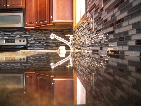 Image of: unique backsplash tile