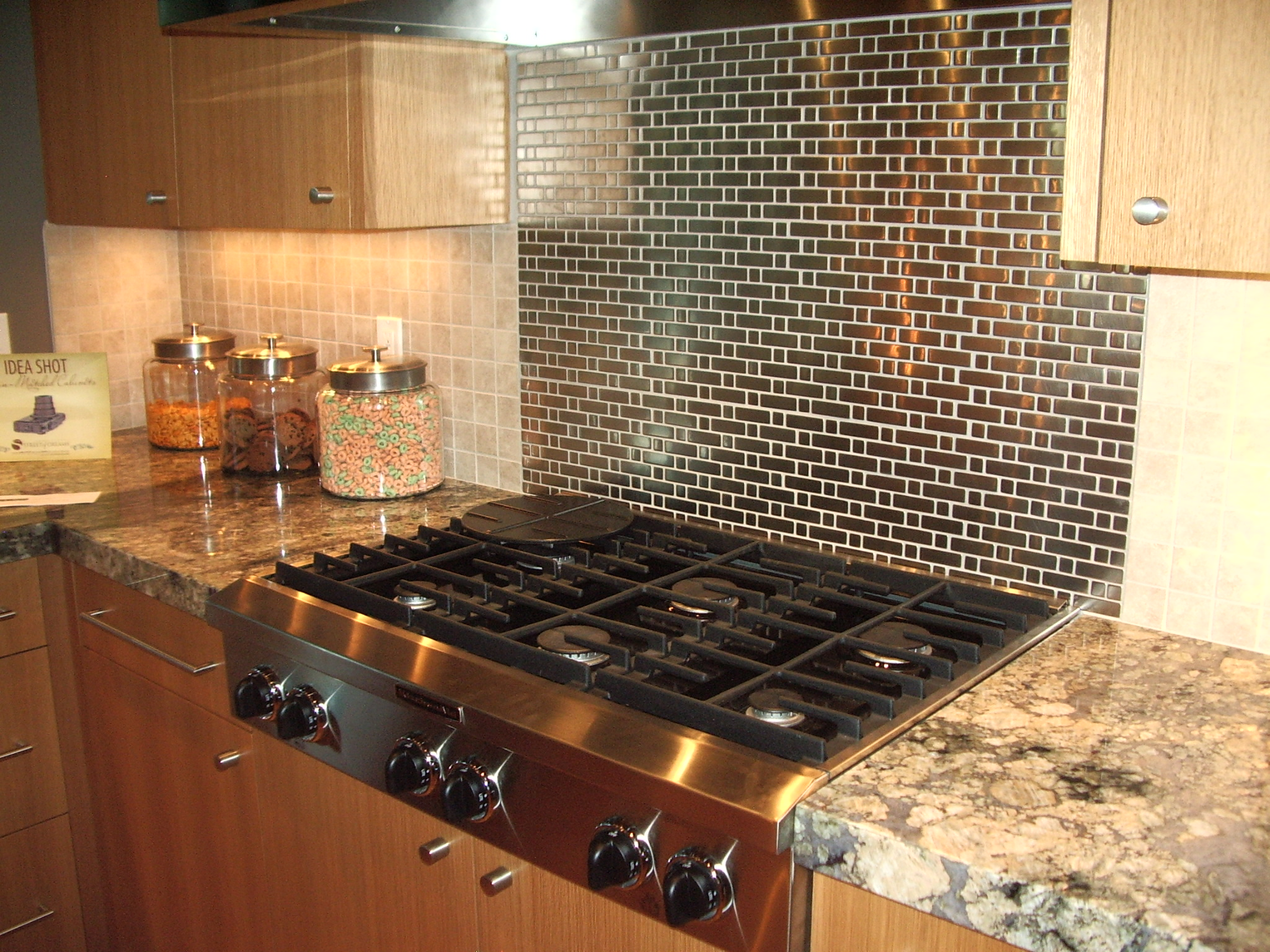 Image of: unique backsplash tiles