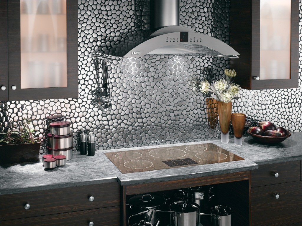 Image of: Unique Glass Tile Backsplash Designs Ideas