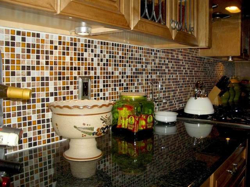 Image of: Unique Kitchen Backsplash Tiles Designs Ideas
