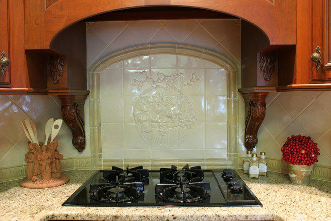 Image of: unique kitchen backsplash