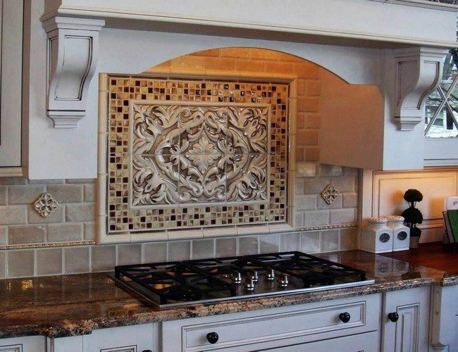 Image of: unique tile backsplash