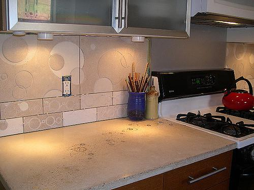 Image of: vinyl backsplash kitchen