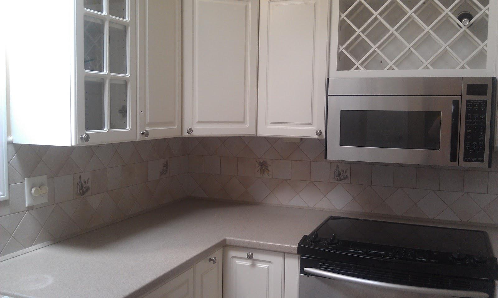 Image of: vinyl backsplash