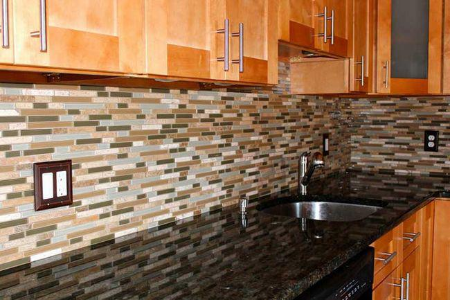 Image of: vinyl sticky backsplash
