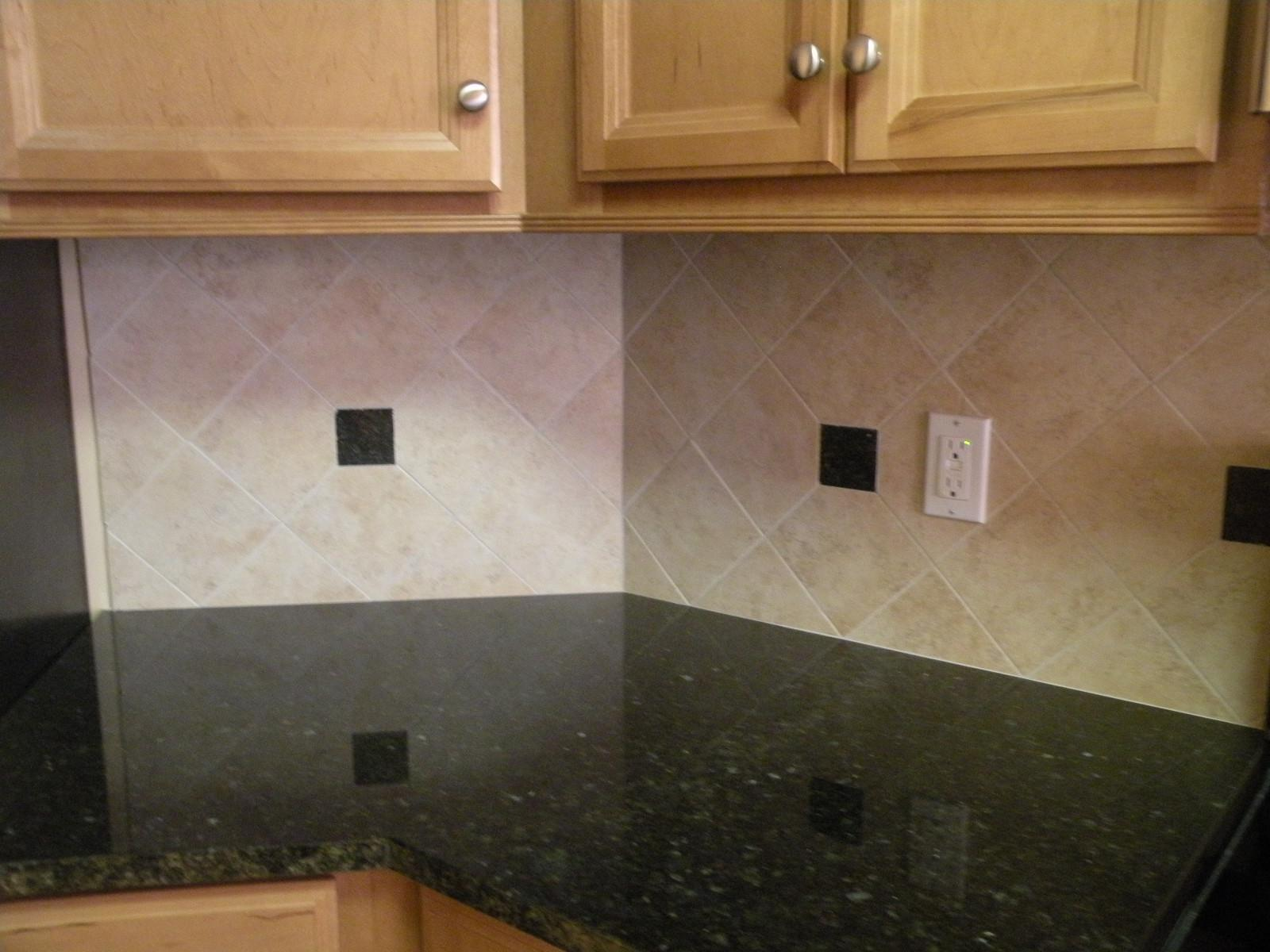 Image of: vinyl subway tile backsplash