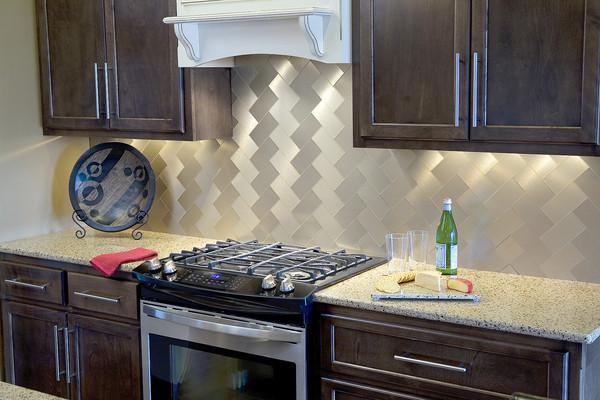 Image of: vinyl tile backsplash pictures