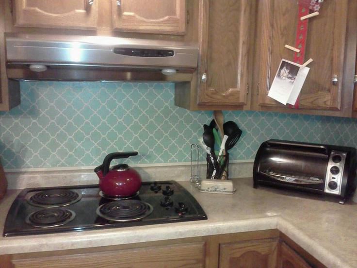 Image of: vinyl tile backsplash