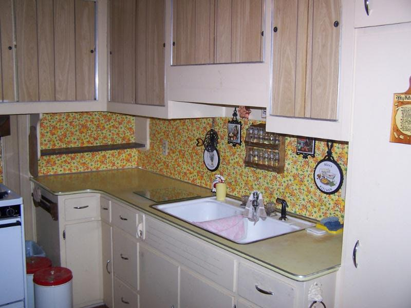 Image of: Vinyl Wallpaper Kitchen Backsplash Designs Ideas