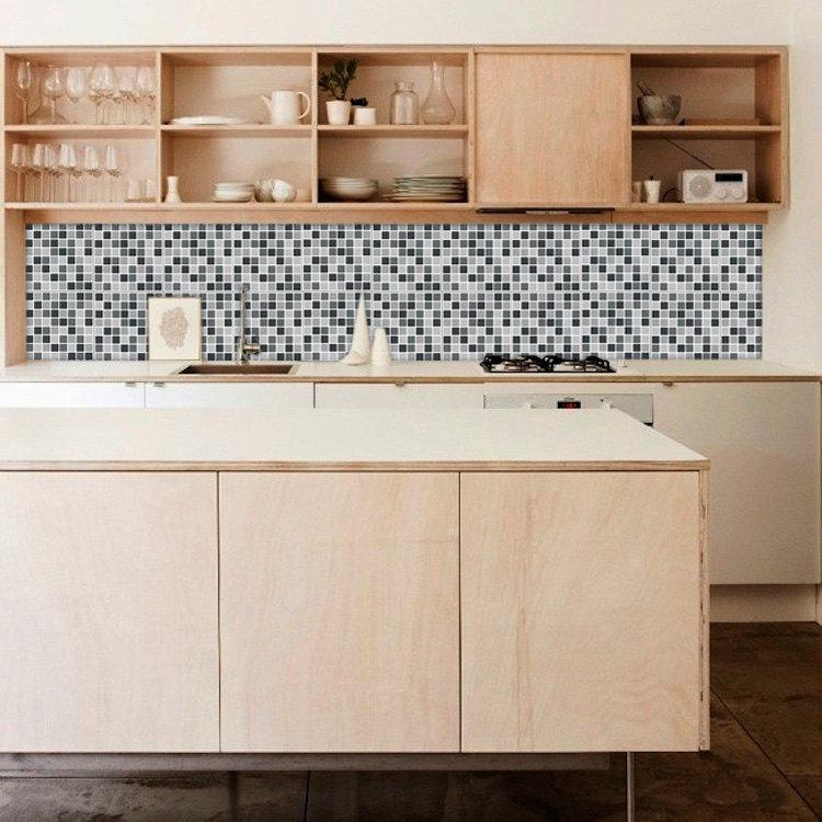 Image of: vinyl wallpaper kitchen backsplash