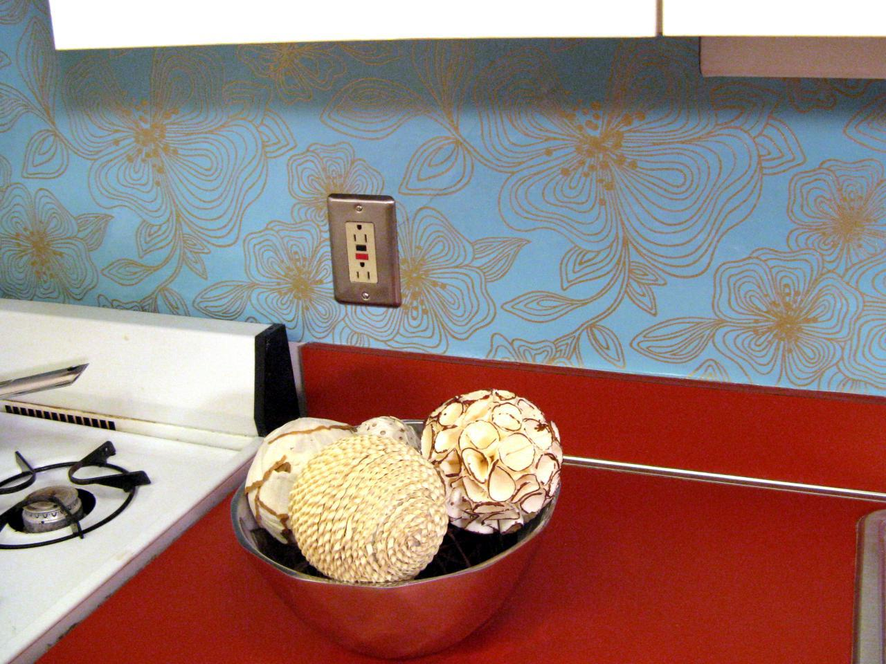 Image of: wallpaper backsplash for kitchen