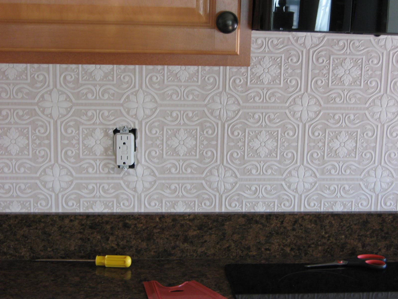 Image of: wallpaper for backsplash