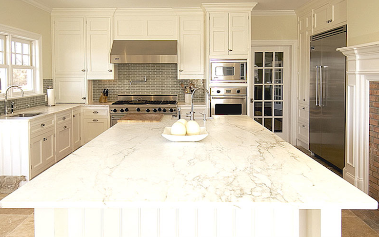 Image of: white and grey kitchen backsplash
