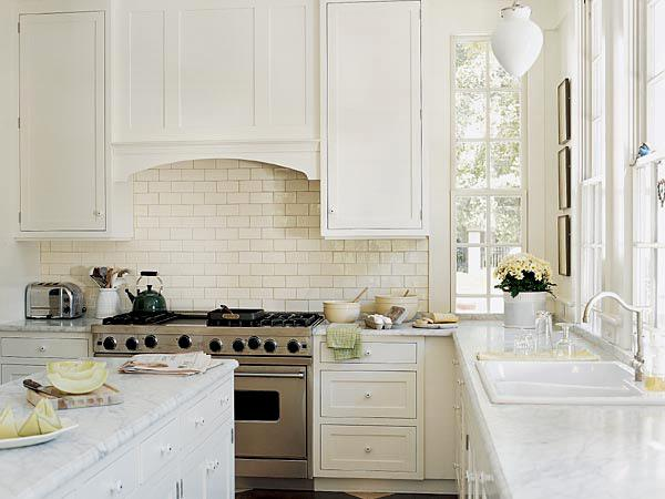 Image of: white kitchen backsplash ideas