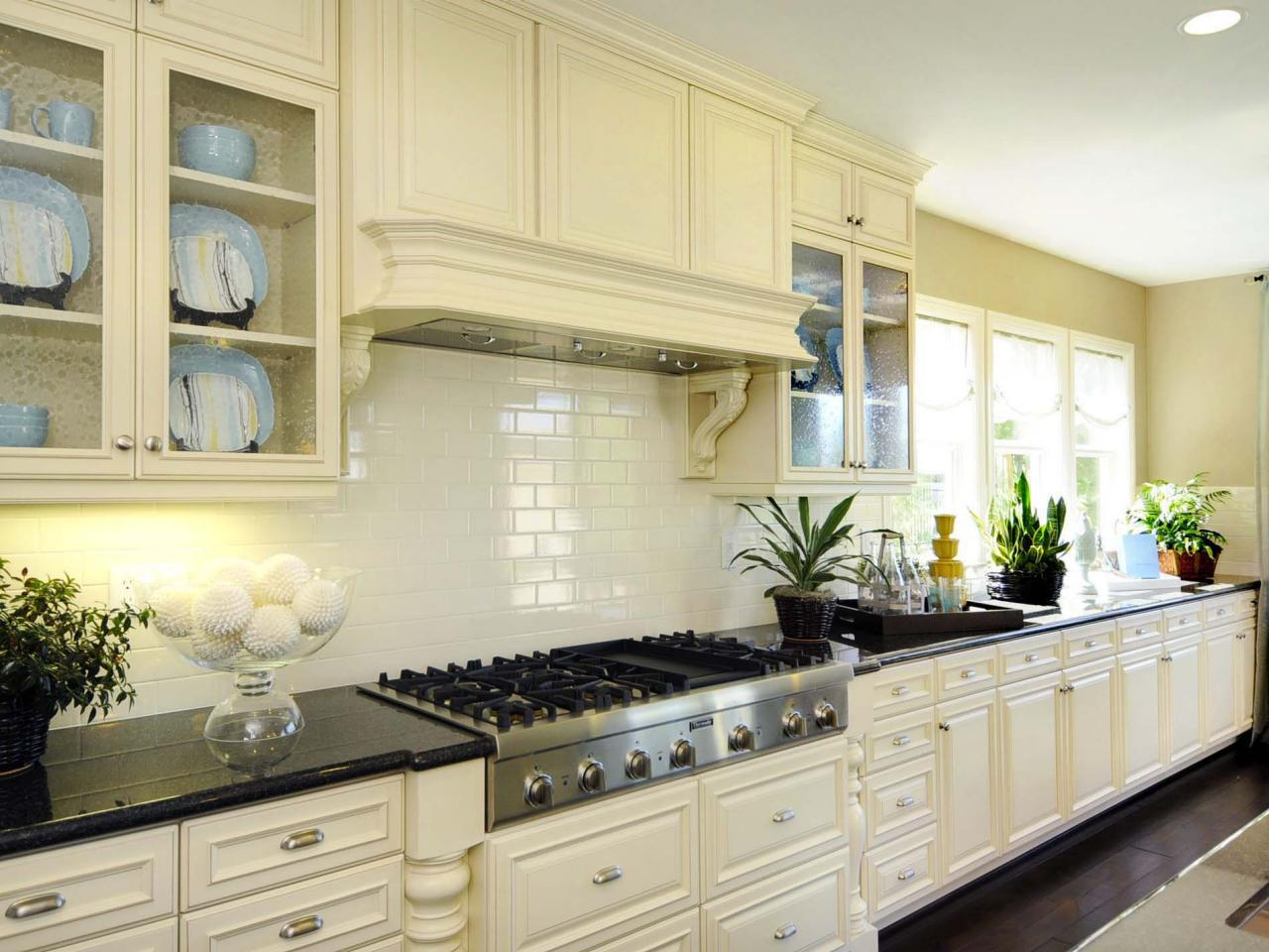 Image of: white kitchen backsplash tile