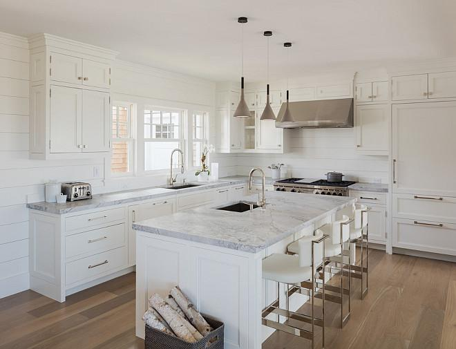 Image of: white shiplap backsplash