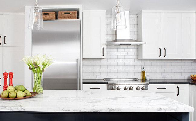 Image of: white subway tile kitchen backsplash