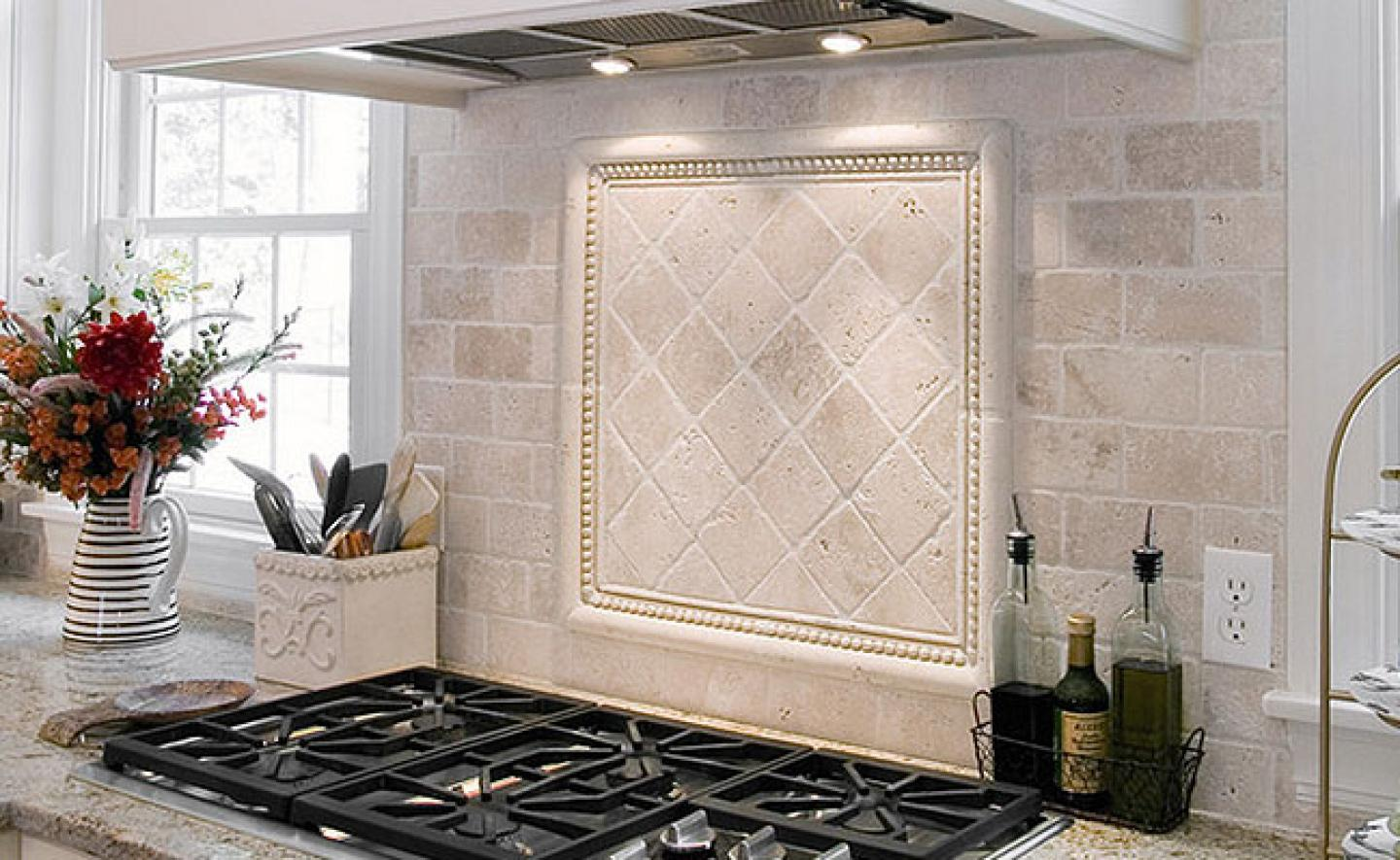 Image of: white tile backsplash ideas