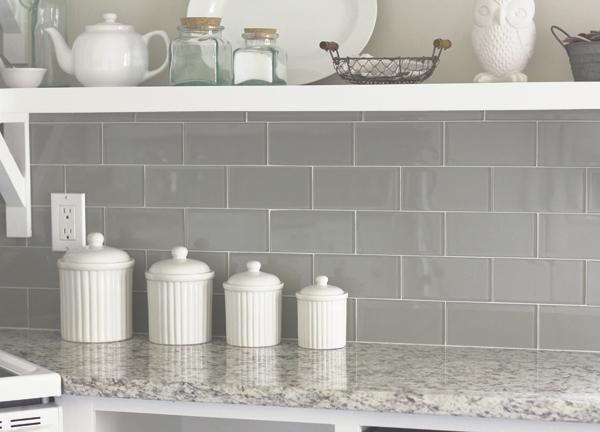 Image of: White Tile Backsplash With Grey Grout Designs Ideas