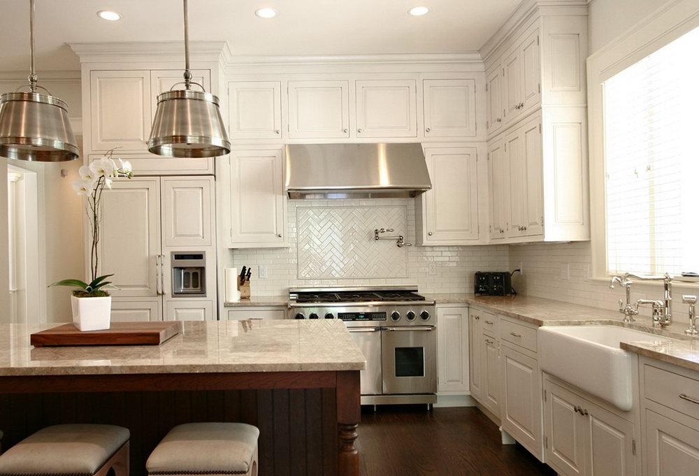 Image of: white tile backsplash with white grout