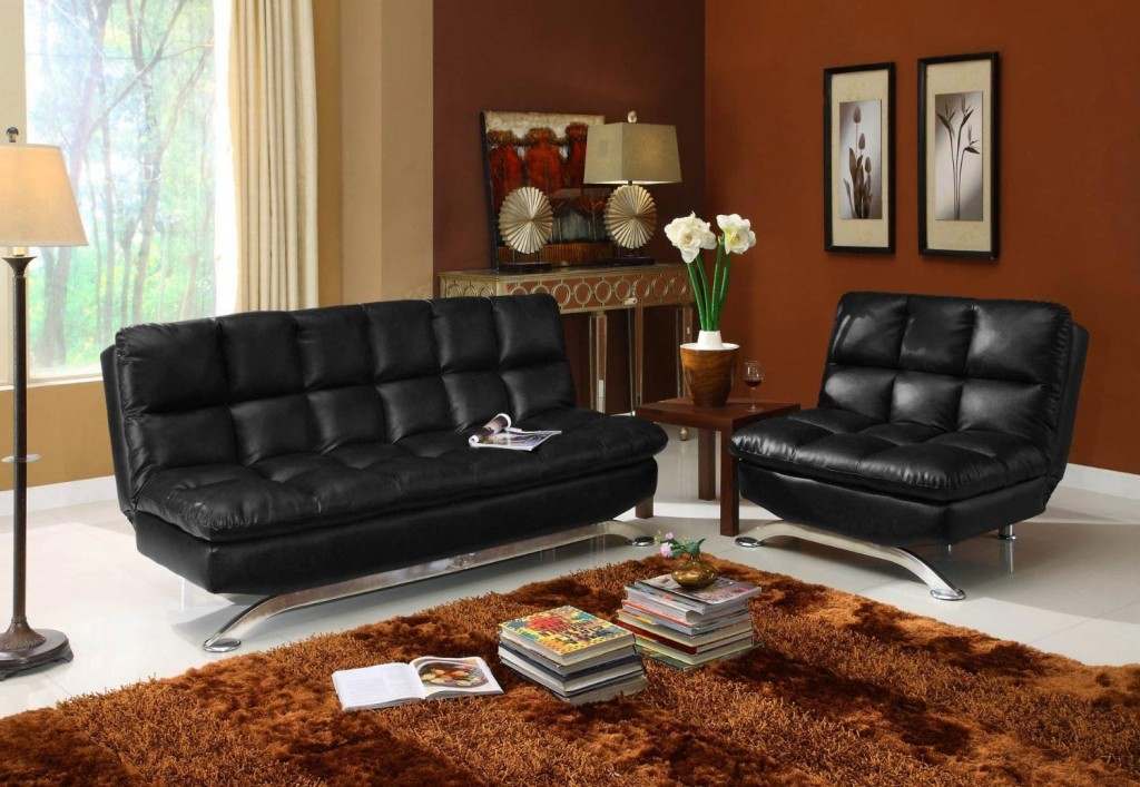 Amazing Faux Leather Futon