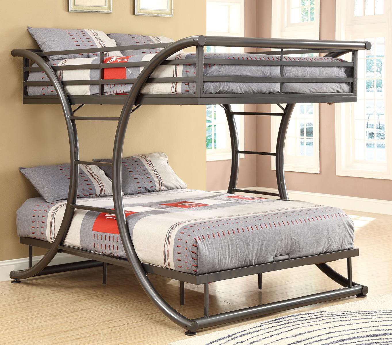 Image of: Amazing Metal Futon Bunk Bed