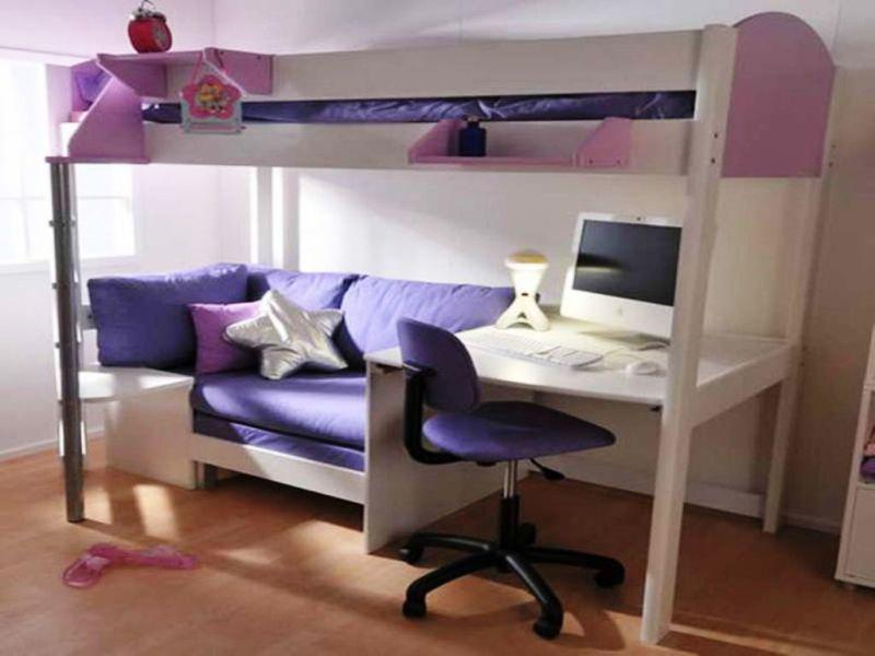 Image of: Amazing Mini Futon Sofa Couch with Desk
