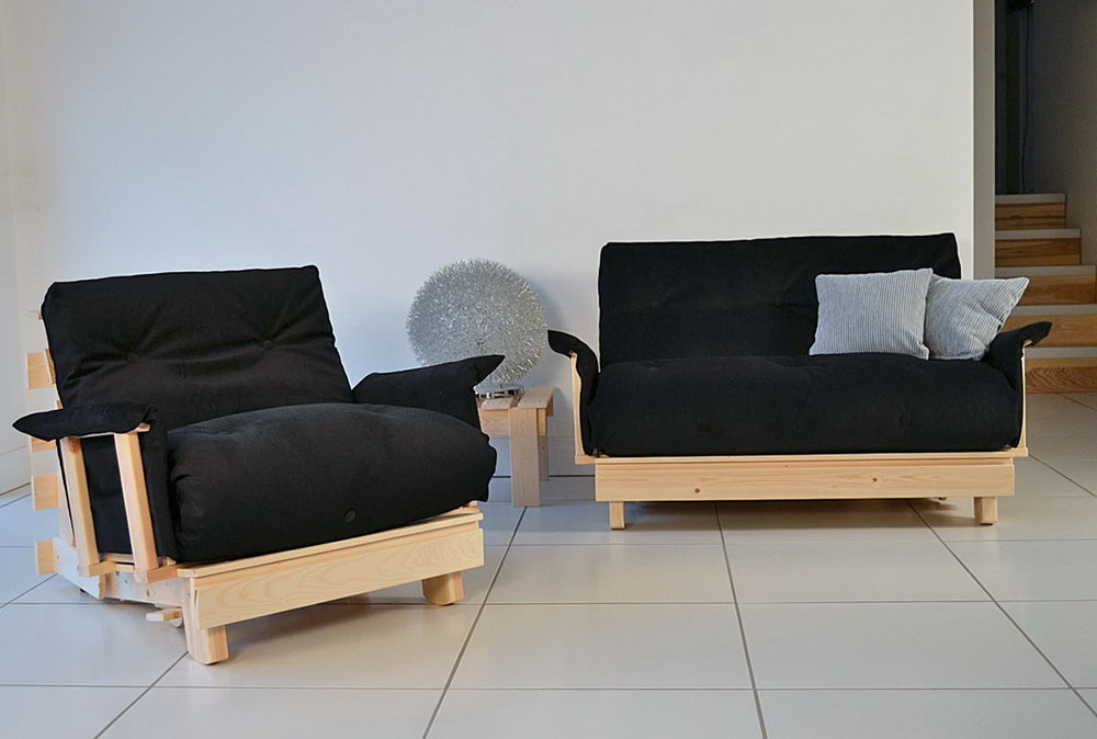 Image of: Beatiful Futon Chair Bed