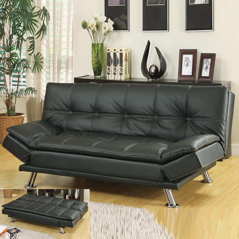Image of: Best Faux Leather Futon