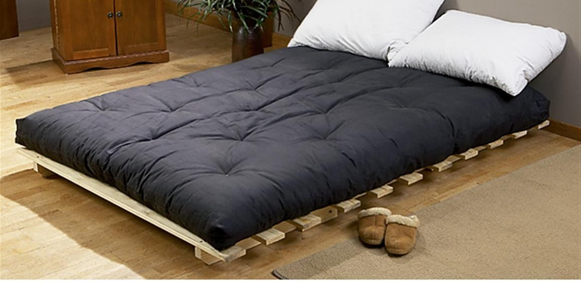 Black Bedroom Futon Cushion