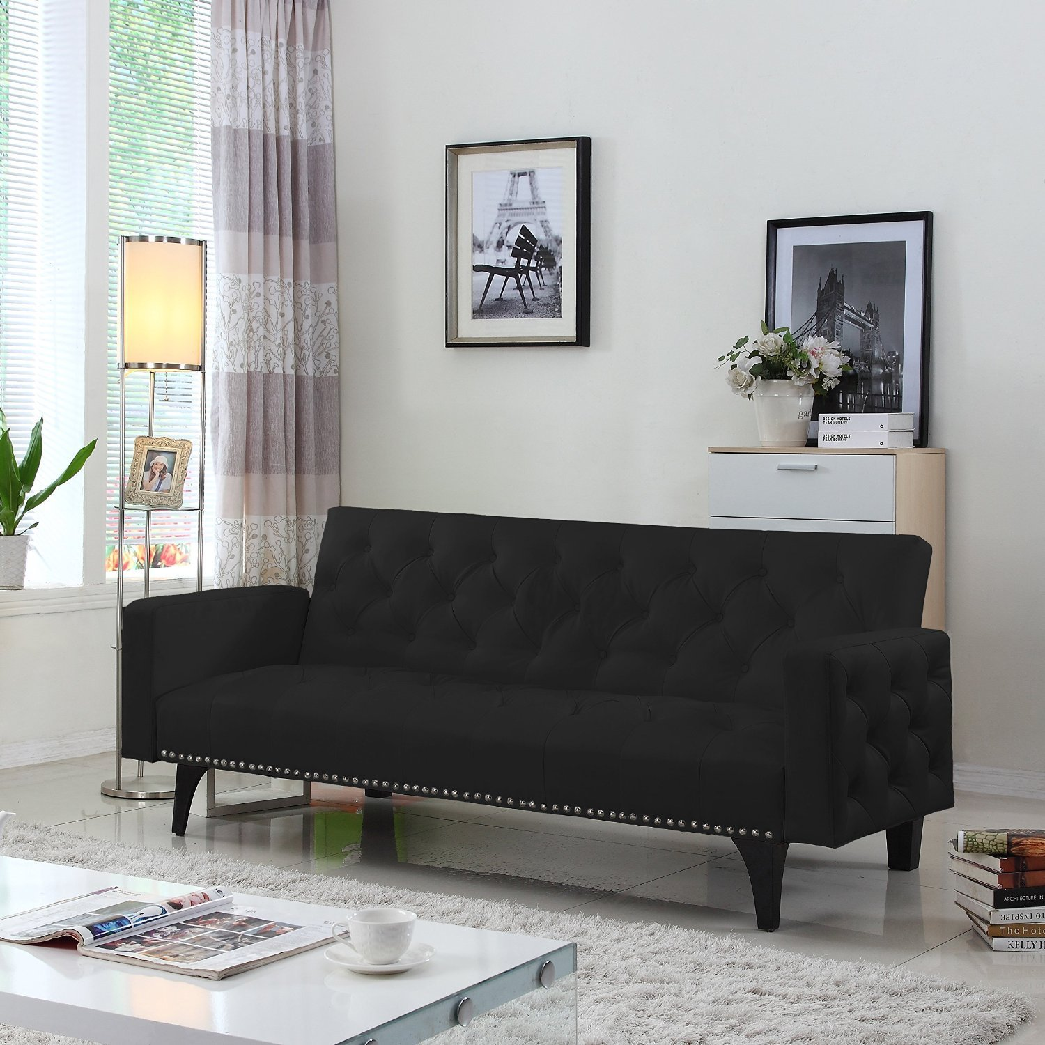 Image of: Black Fancy Futon