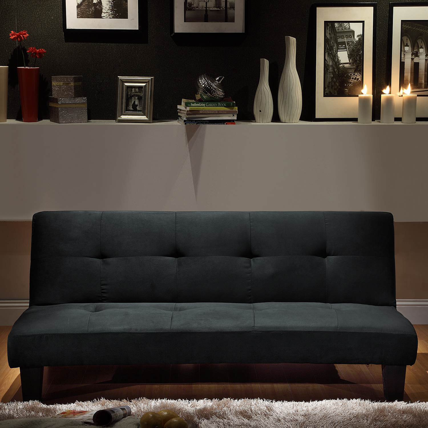 Image of: Black Mini Futon