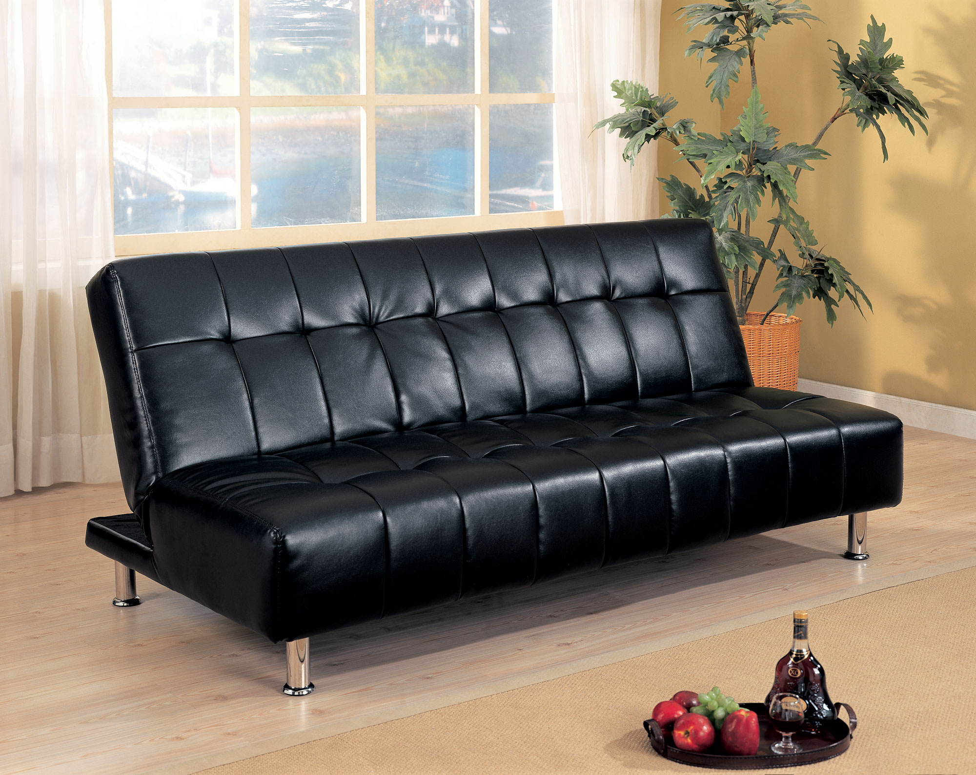 Image of: Black Wayfair Futon