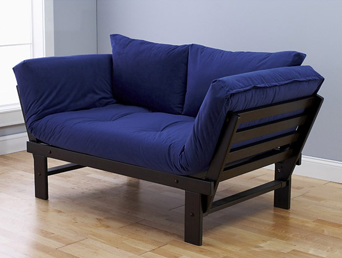 Image of: Blue Futon Lounger