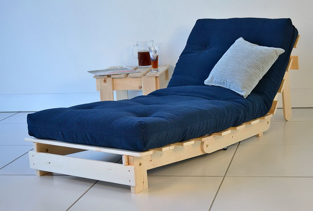 Blue Wayfair Futon