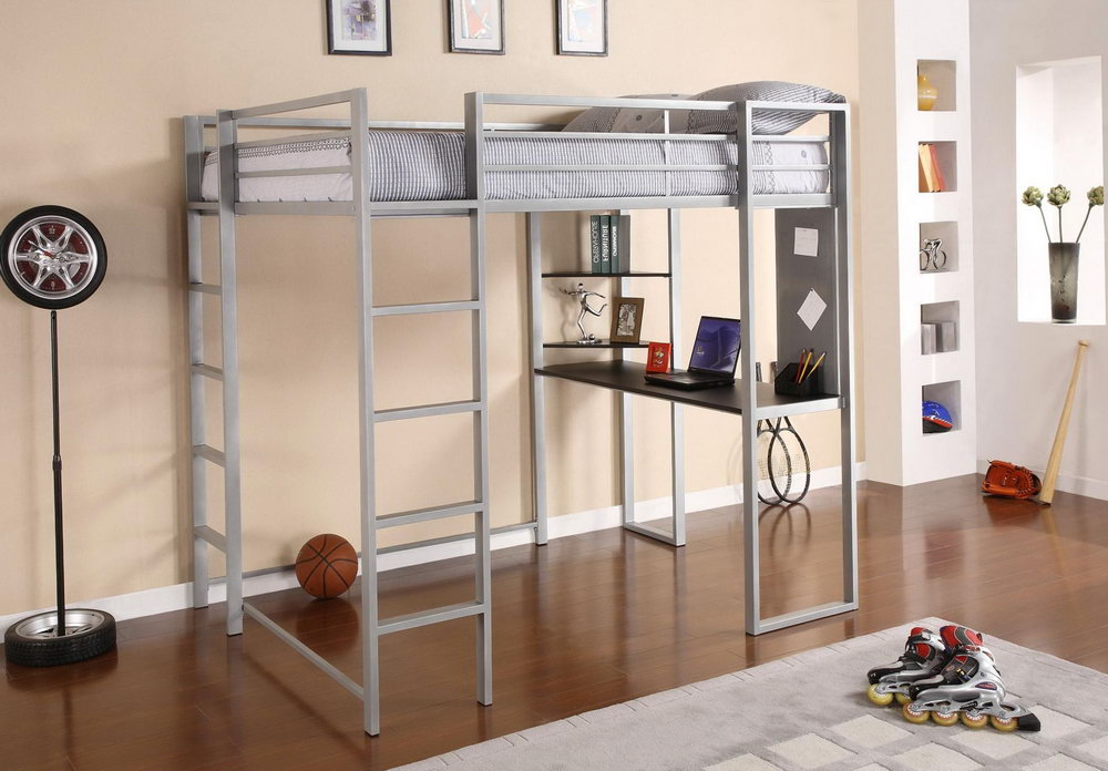 Image of: Boy Loft Bed with Futon
