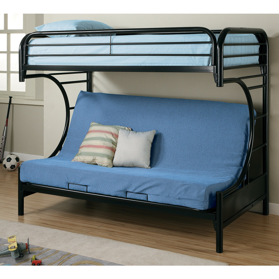 Image of: Bunk Bed with Futon Style