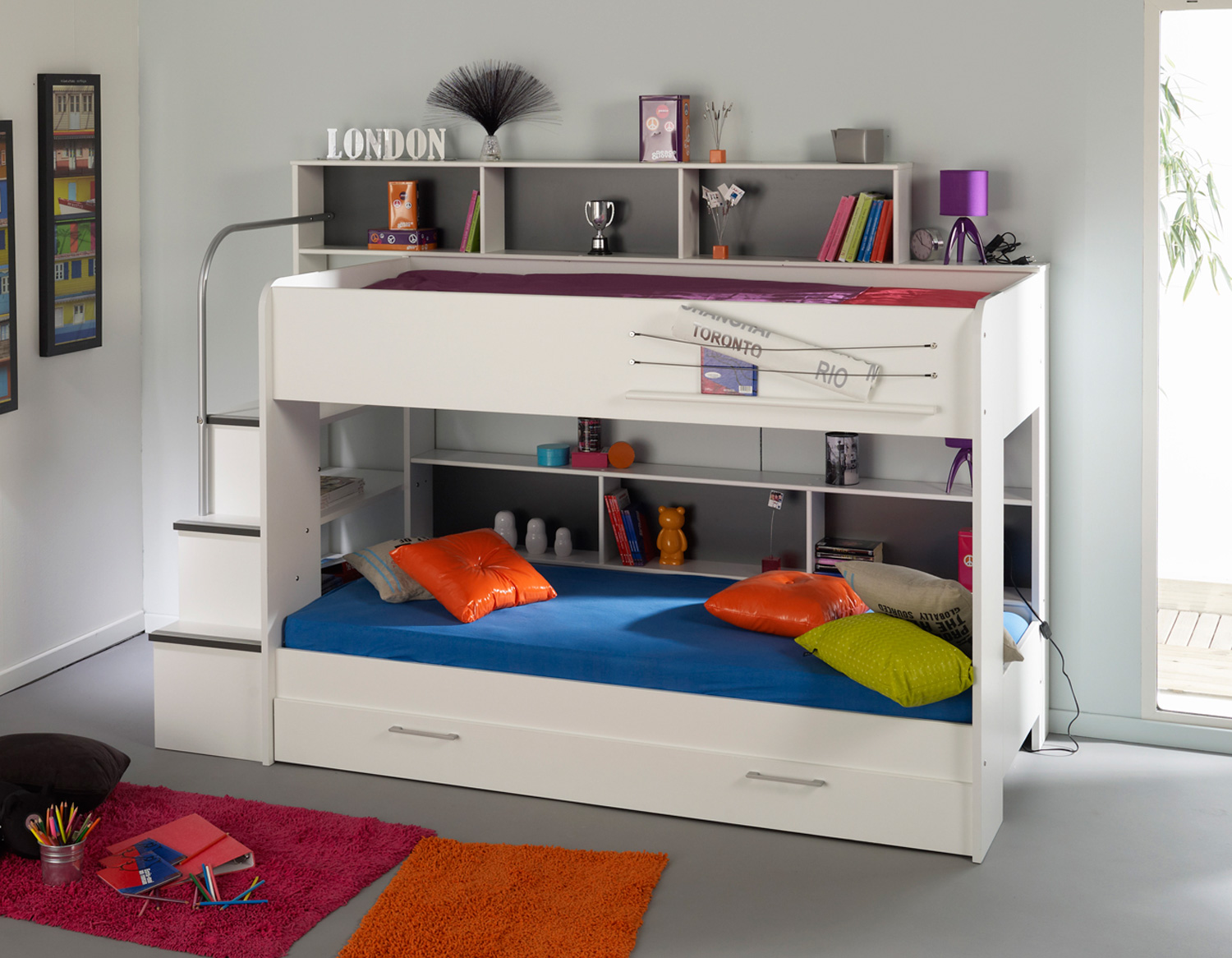 Image of: Bunk Bed with Futon