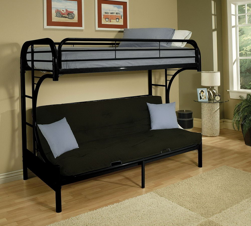 Image of: Bunk Beds with Futon Type