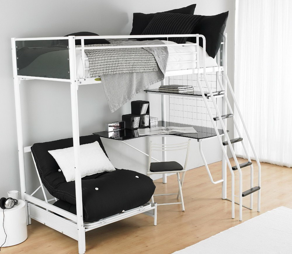 Image of: Chic Bunk Beds with Futon