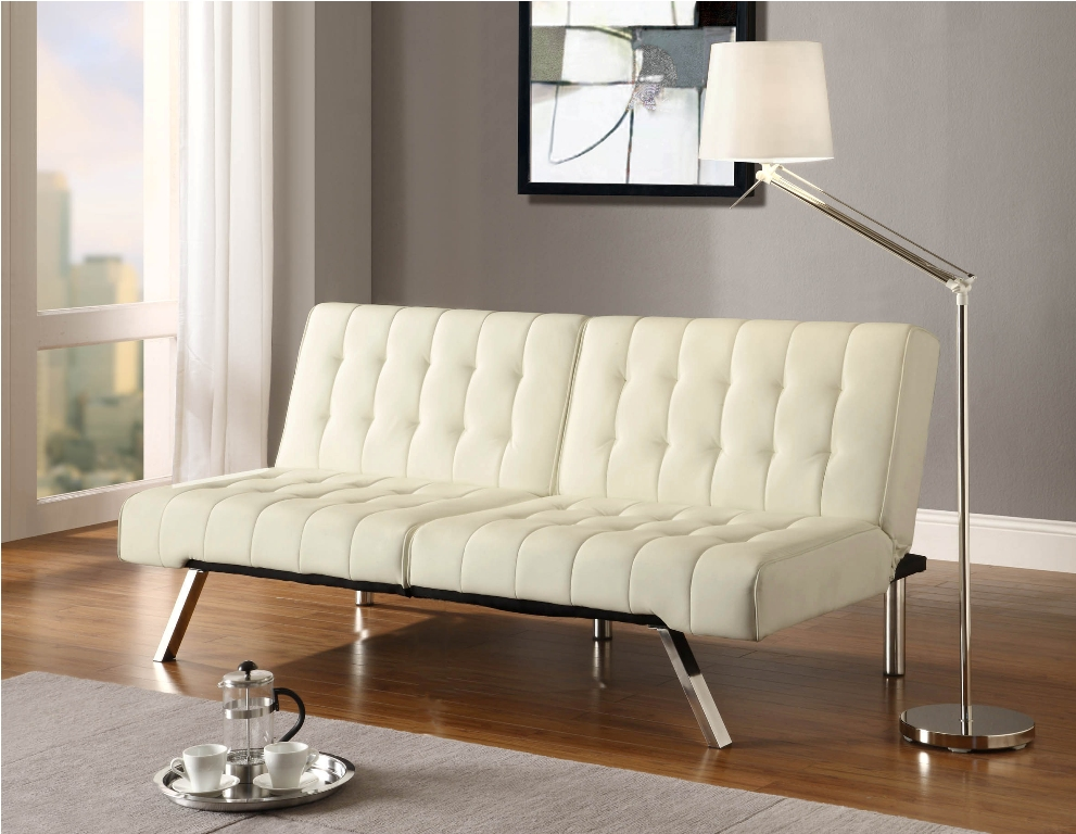 Emily Convertible Futon Sofa Bed with Lounge