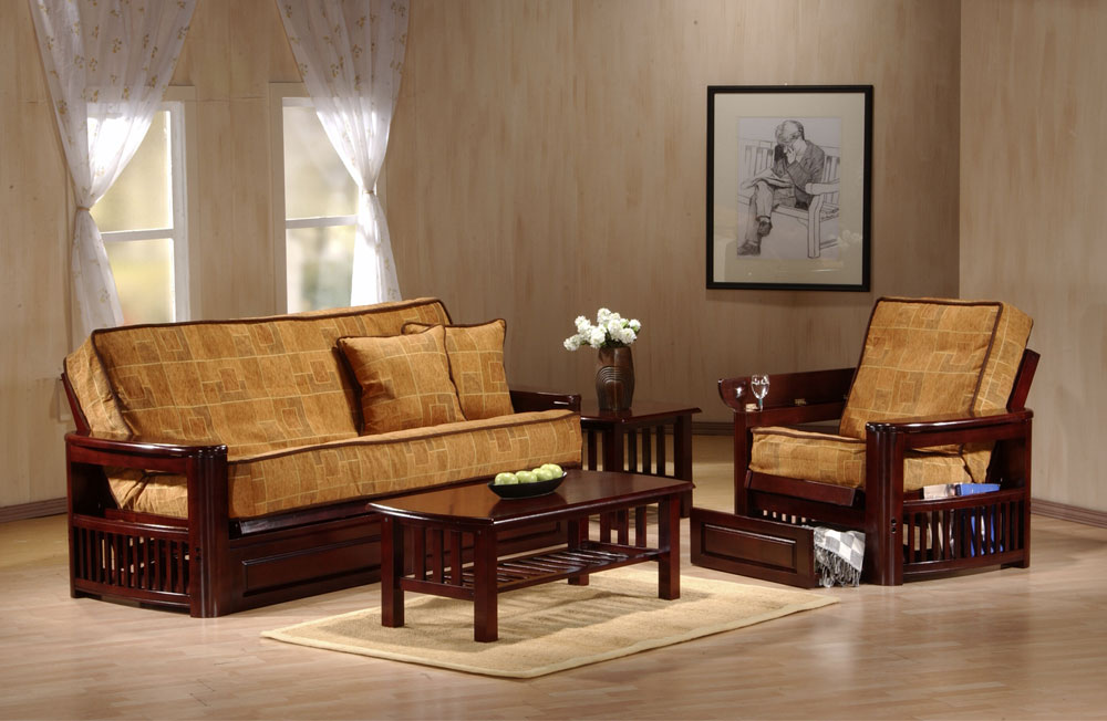 Image of: Excellent Wood Futon